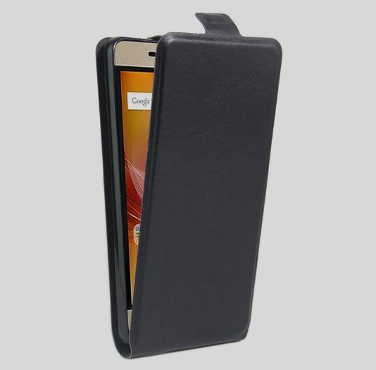 Чехол-флип MyPads для ZTE Blade A610 Plus вертикальный откидной черный