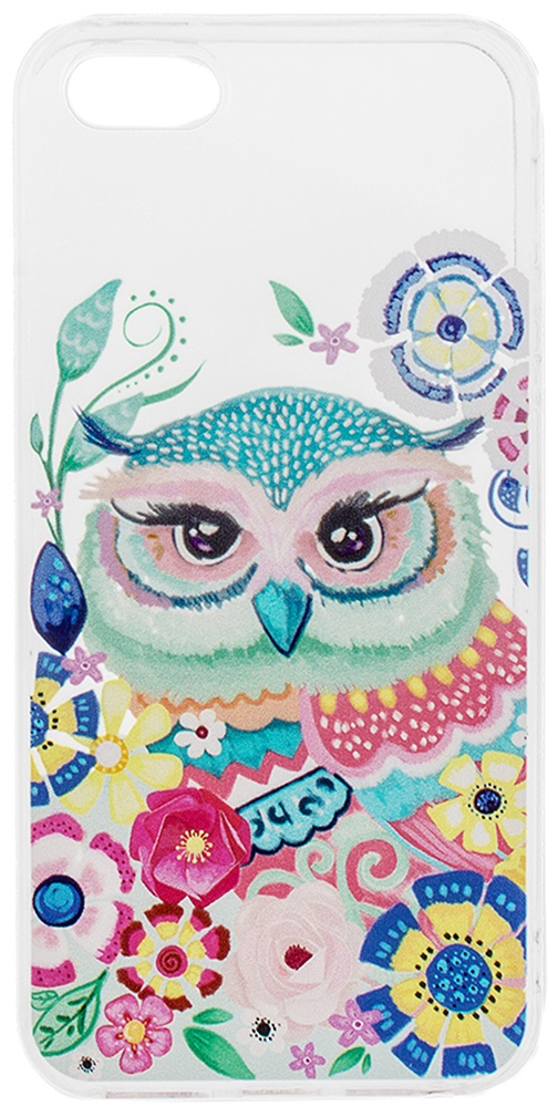 Чехол для мобильного телефона Alessandro Frenza Волшебная сова, пластм. прозр. (для 5/5s) чехол для айфона 5 5s лиса и ворона
