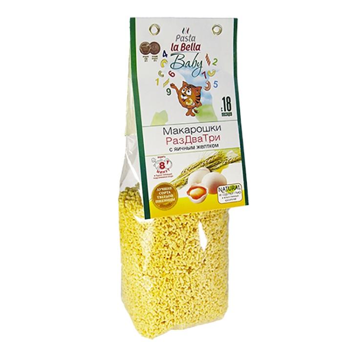 Pasta la Bella Baby Макарошки Раз Два Три с Желтком цена в Москве и Питере
