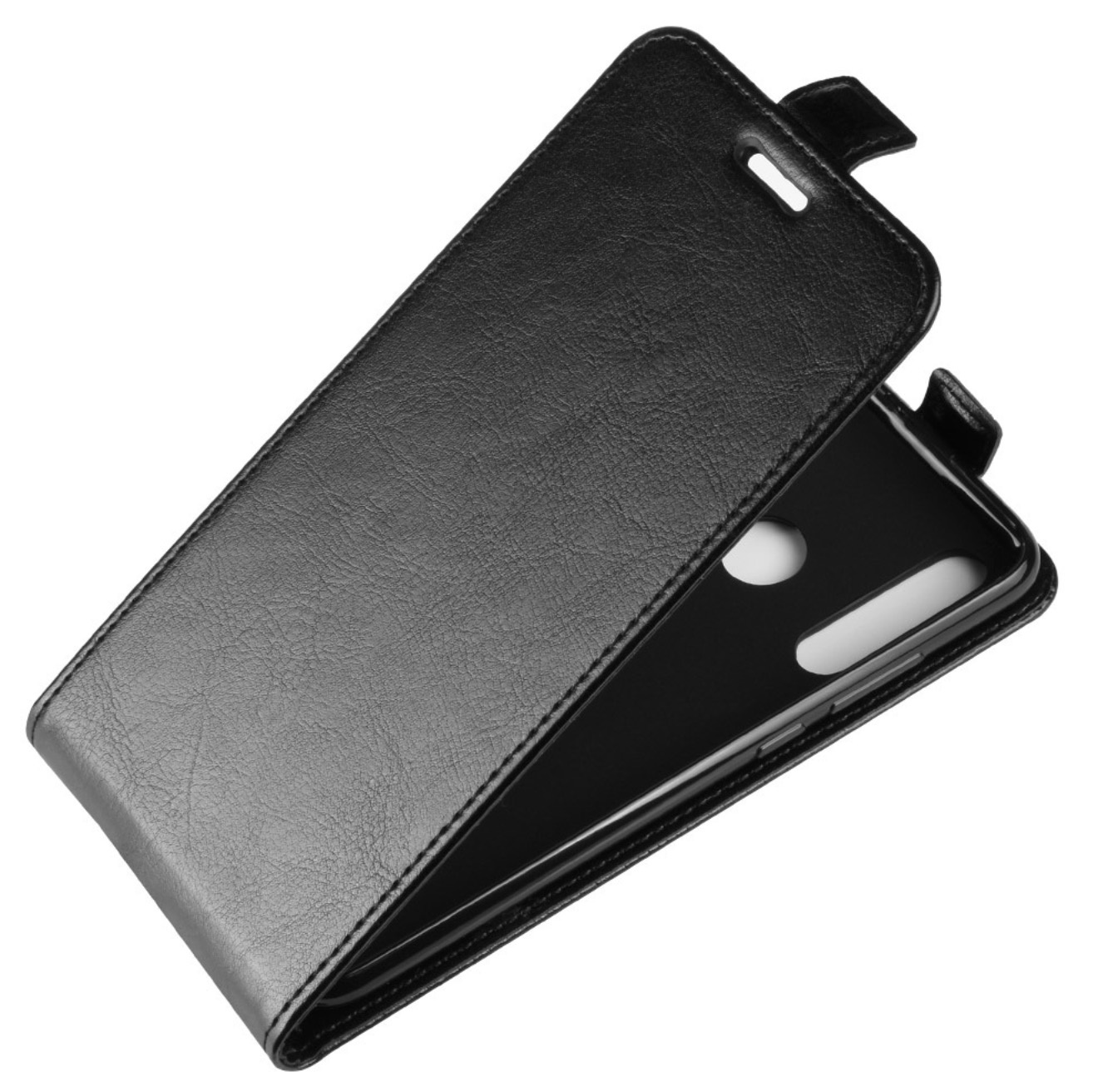 Чехол-флип MyPads для Lenovo K900 вертикальный откидной черный