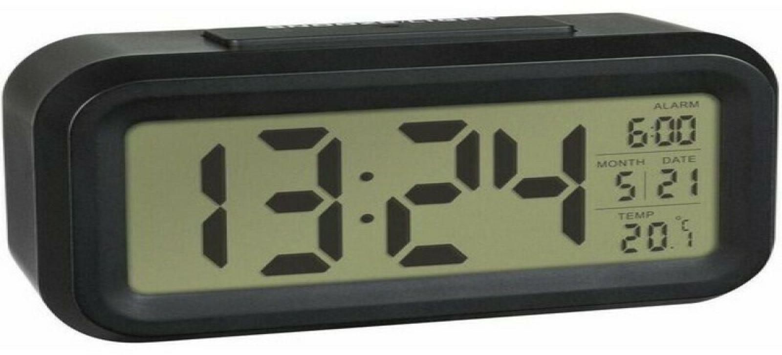 Часы электронные TFA, 60.2018.02, черный