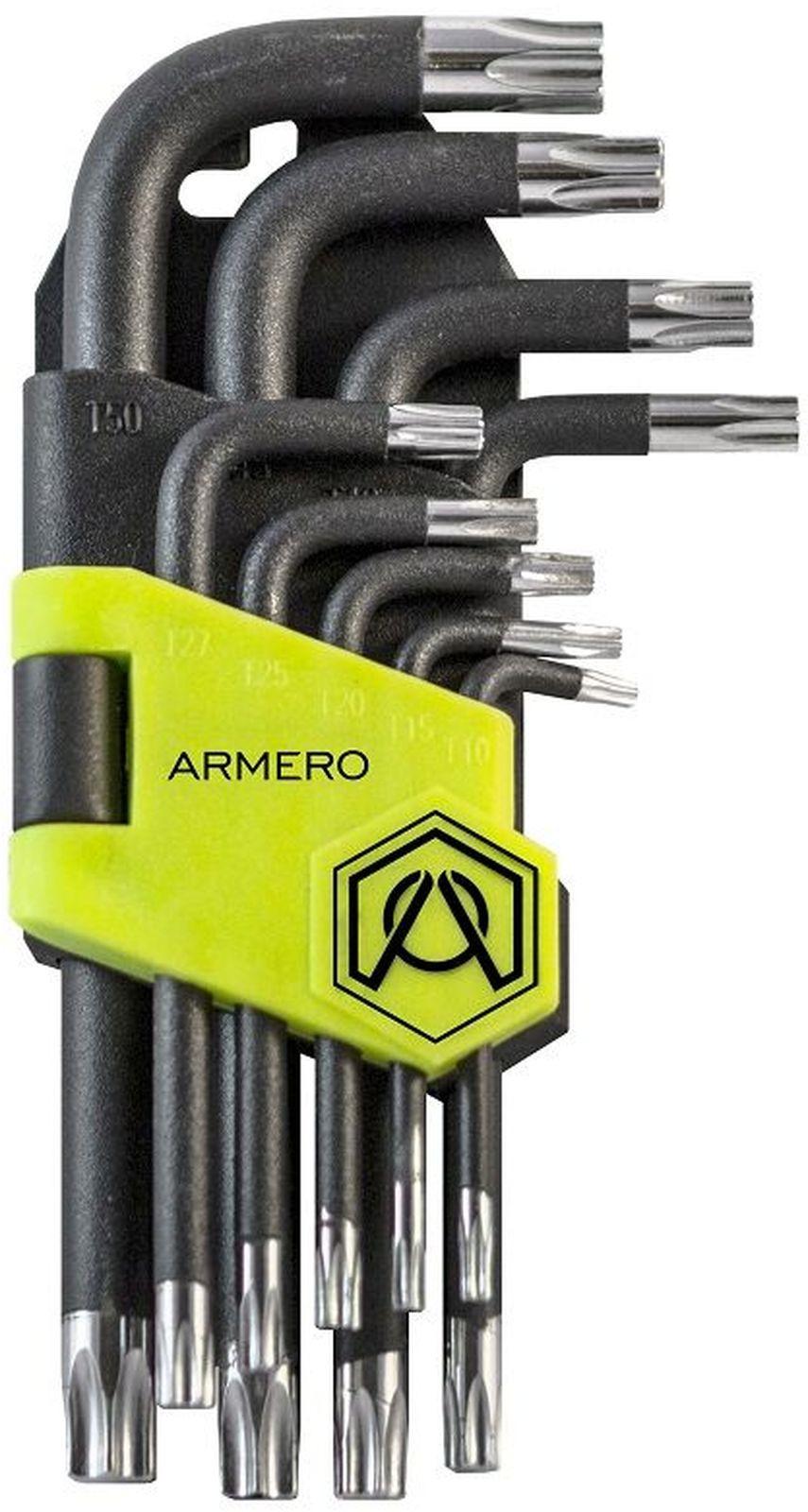 Набор ключей Armero Torx, CrV, длинные, 9 шт ключ torx t27 угловой aist 154227tt