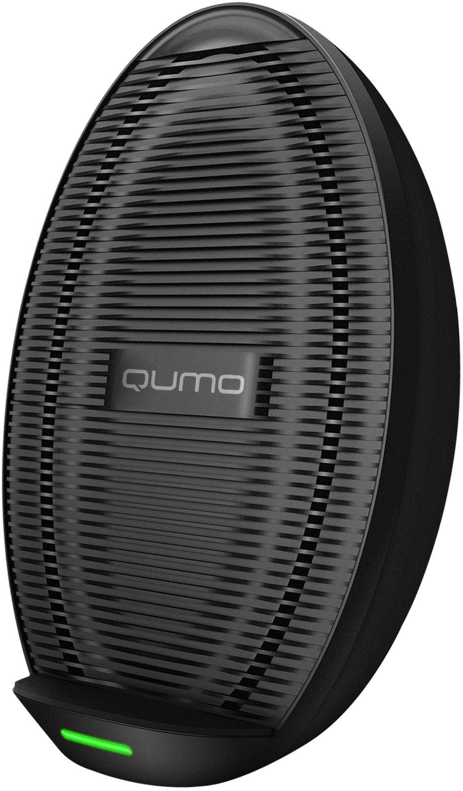 Фото - Беспроводное зарядное устройство QUMO PowerAid Qi Cold Charger 0014, 10 Вт, 3 контура, черный беспроводное зарядное устройство qumo poweraid qi dual i charger 0013 10 вт 1 контур черный