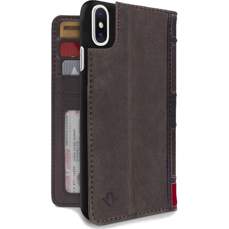 Чехол Twelve South Bookbook для iPhone X/Xs коричневый twelve south action sleeve armband чехол для apple watch 38mm red размер l
