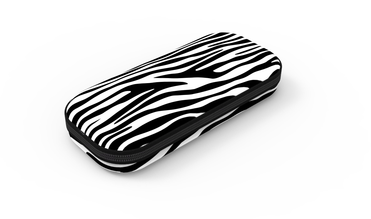 Пенал COLORZ BOX, цвет черно-белый