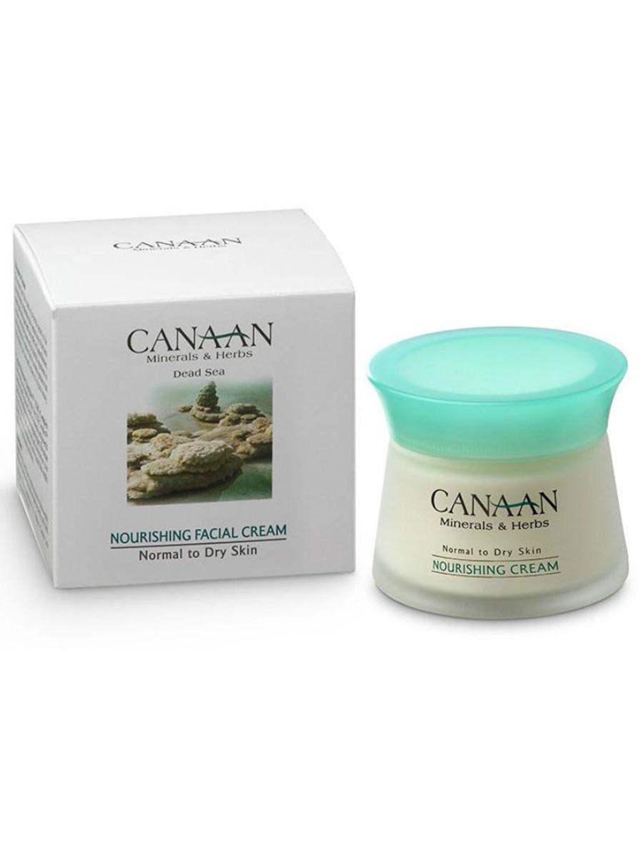 Антивозрастной питательный крем для лица для нормальной, сухой кожи с минералами Мертвого моря, 50мл, Canaan