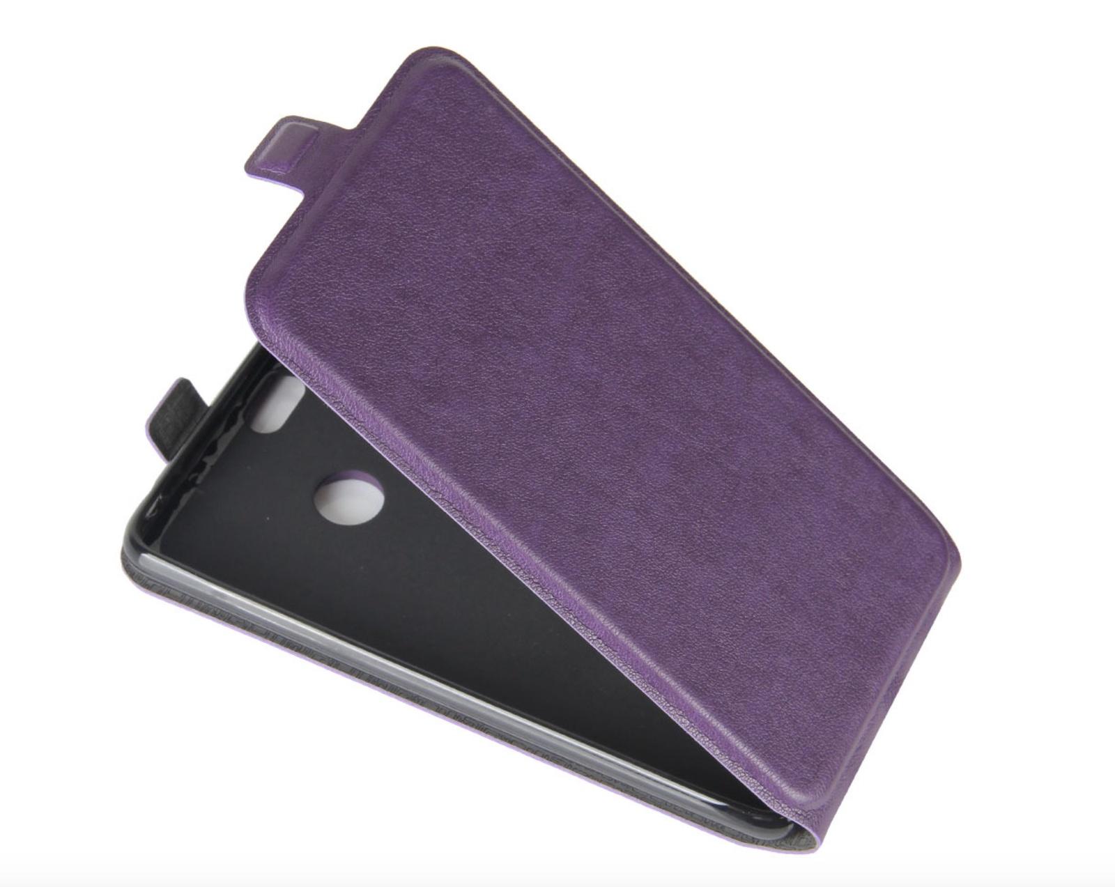 Чехол-флип MyPads для Microsoft Nokia Lumia 535 вертикальный откидной фиолетовый наклейка на телефон hyun post microsoft lumia 535