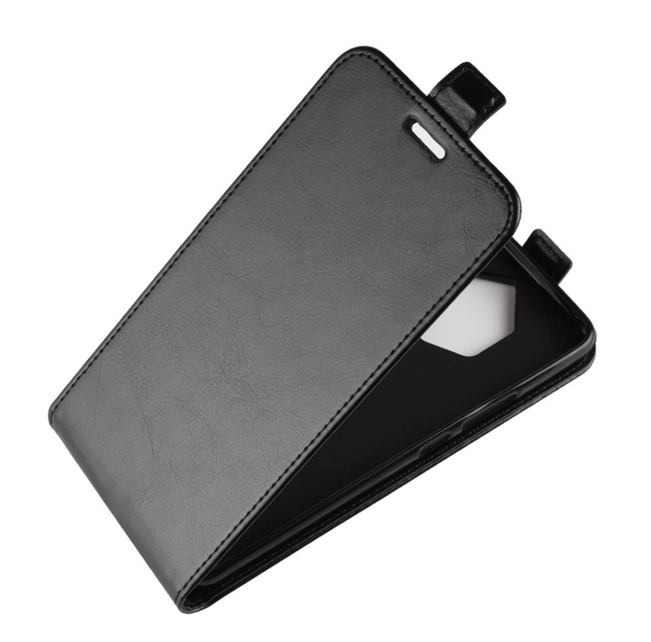 Чехол-флип MyPads для Samsung Galaxy A7 вертикальный откидной черный