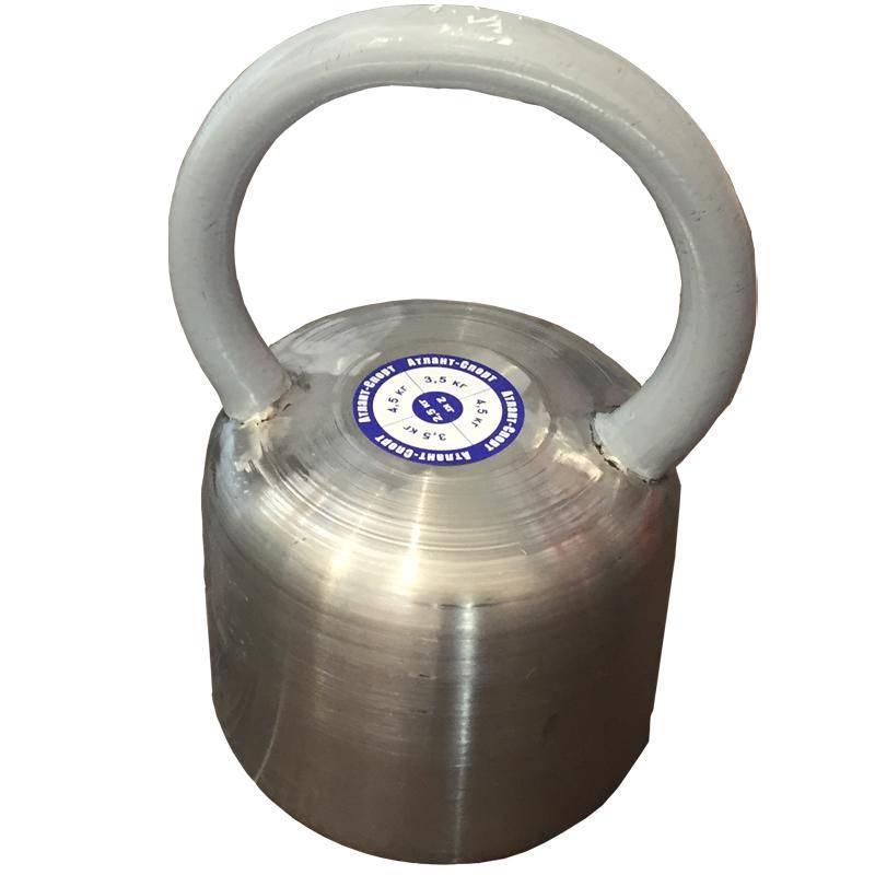 Гиря цельная АТЛАНТ 16 кг. (хром. сталь) гиря 16 кг для соревнований