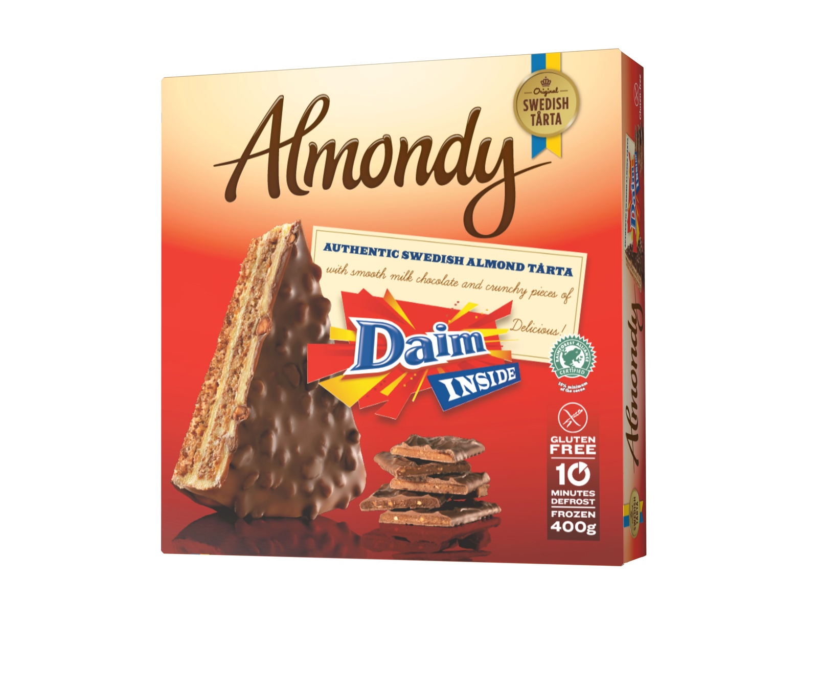 Миндальный торт Daim (ТМ Almondy) БЕЗ ГЛЮТЕНА 400г*12