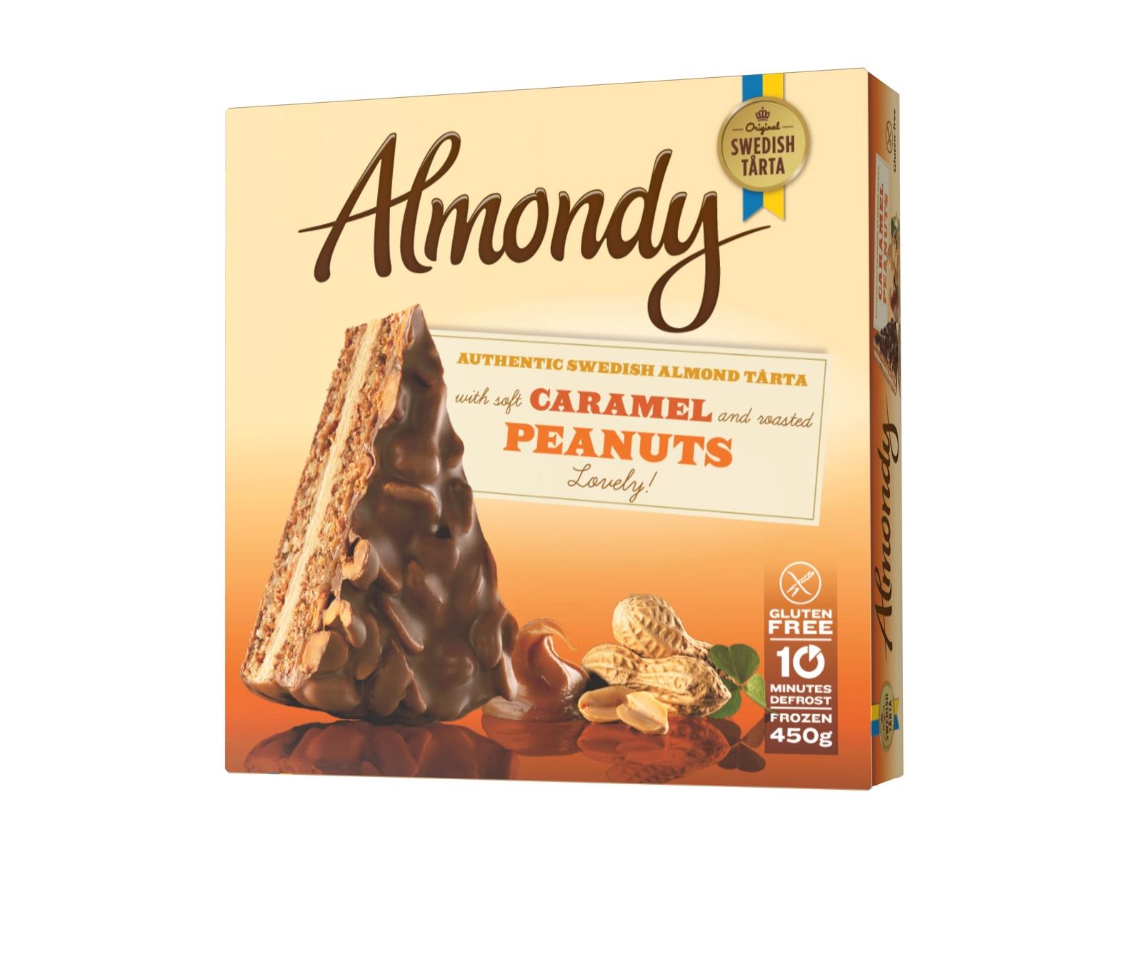 Миндальный торт Caramel & Peanuts (ТМ Almondy) БЕЗ ГЛЮТЕНА 450г*12