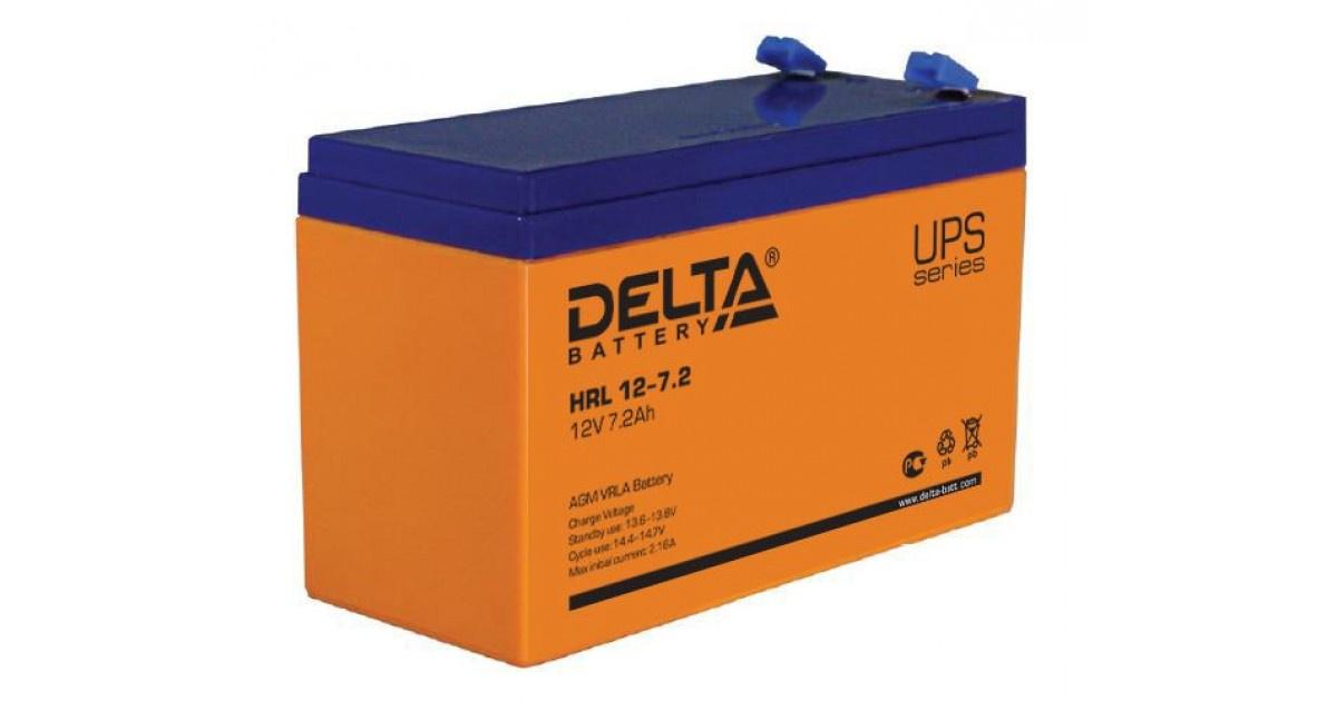 Аккумулятор Delta HRL 12-7.2 X аккумулятор