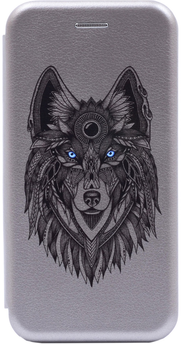 Чехол-книжка Book Art Jack Grand Wolf для Huawei Y7 (2019) серый
