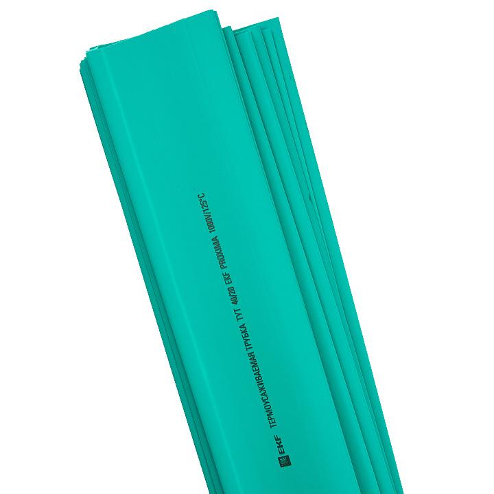 Термоусадочная трубка EKF PROxima ТУТ, tut-40-j-1m, зеленый, 40/20 мм, 25 шт EKF
