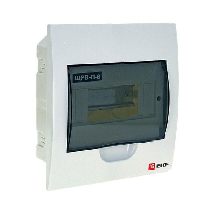 Распределительный щит EKF PROxima ЩРВ-П-6, IP40, pb40-v-6, белый кнопка управления ekf sw2c 11 возвратная no nc