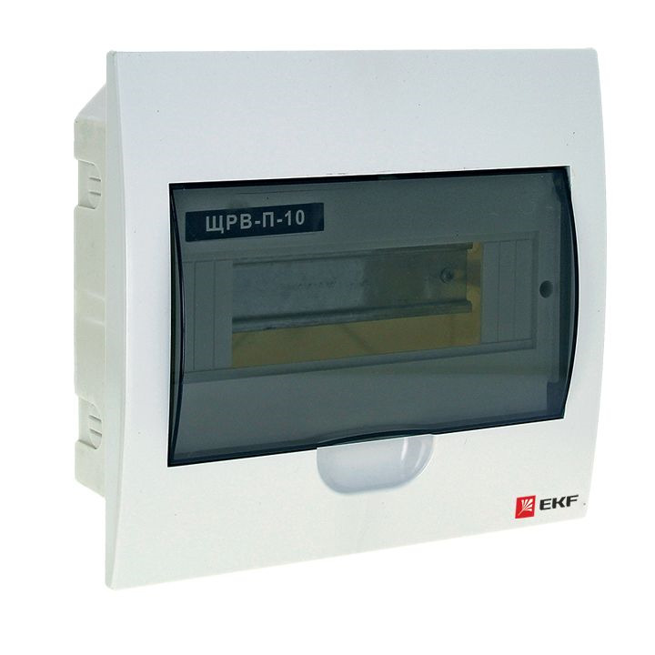 Распределительный щит EKF PROxima ЩРВ-П-10, IP40, pb40-v-10, белый кнопка управления ekf sw2c 11 возвратная no nc