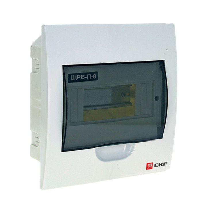 Распределительный щит EKF PROxima ЩРВ-П-8, IP40, pb40-v-8, белый кнопка управления ekf sw2c 11 возвратная no nc