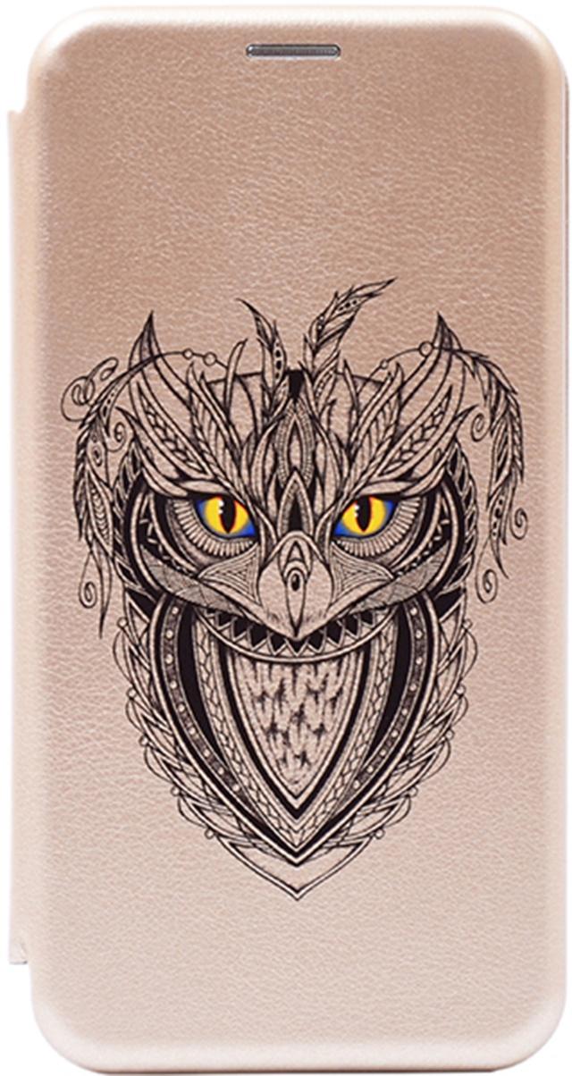 Чехол-книжка Book Art Jack Grand Owl для Huawei Honor 9 Lite золотой GOSSO CASES