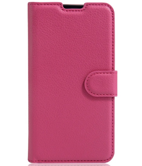 Чехол для сотового телефона MyPads для LG X Screen с застёжкой и карманом для карт розовый