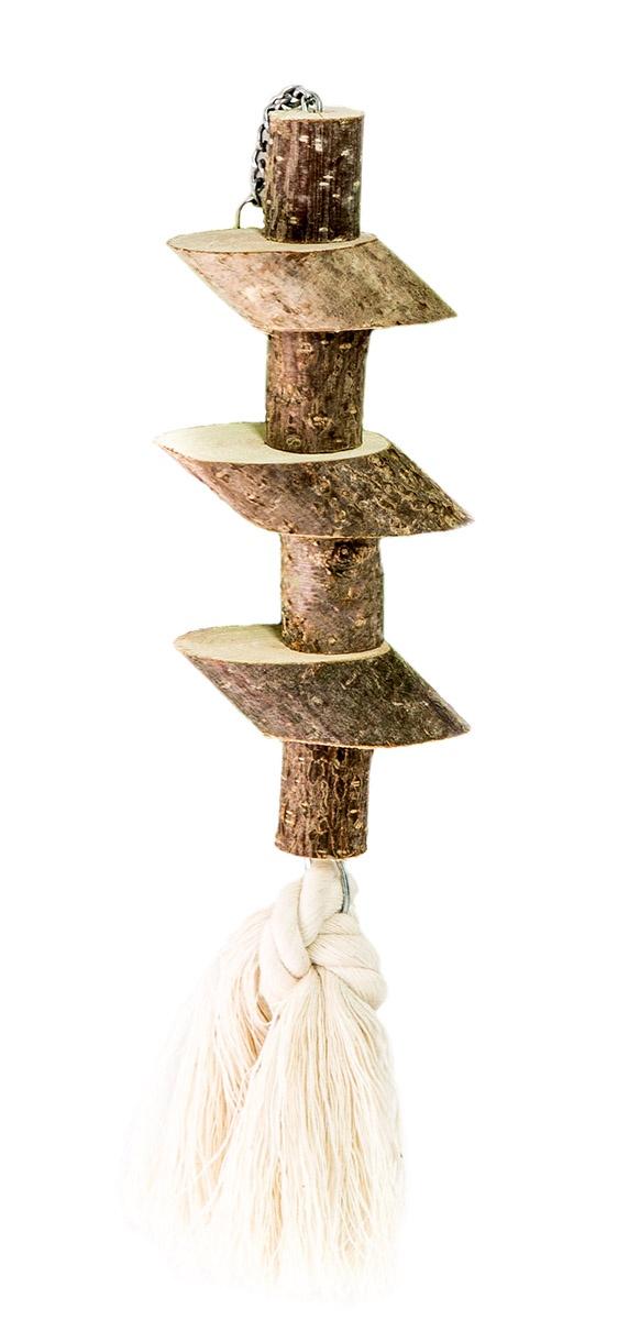 Игрушка для птиц Брусочки с хлопковым шнуром игрушка для птиц zoobaloo зеркало африка высота 17 см