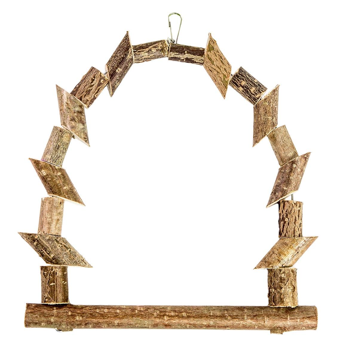 Качели для птиц из брусочков, малая игрушка для птиц zoobaloo зеркало африка высота 17 см