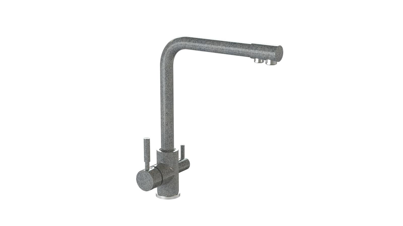 Смеситель для кухни глянцевый MARRBAXX MG-006Q008 темно-серый смеситель для кухни mofem metal резина 142 0005 00