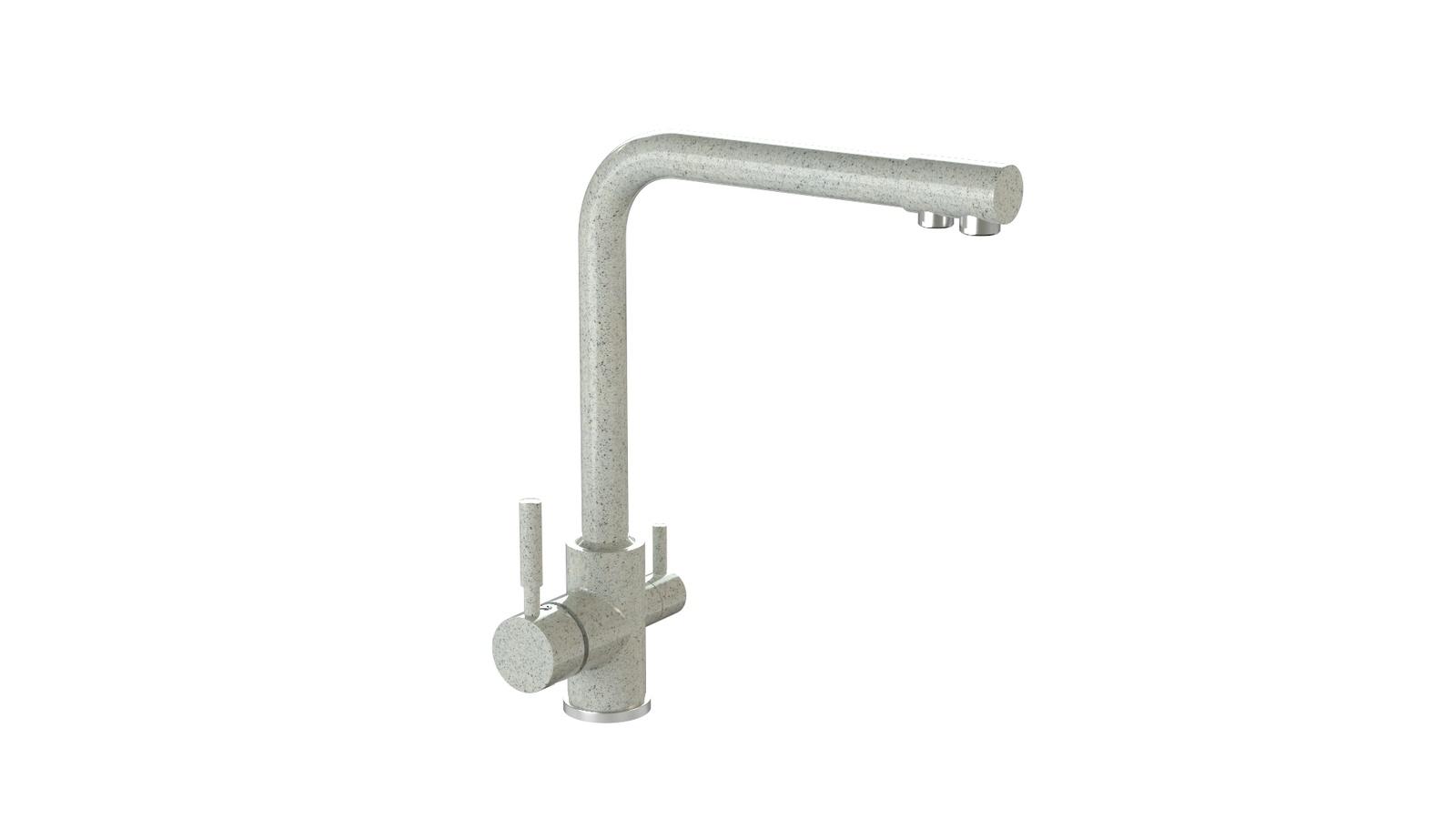 Смеситель для кухни глянцевый MARRBAXX MG-006Q010 светло-серый цена и фото