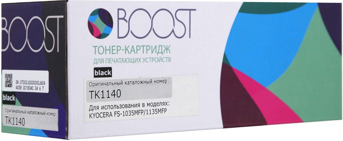 Boost TK-1140, Черный тонер-картридж для Kyocera ECOSYS M2035DN/ECOSYS M2535DN; Mita FS-1035MFP/FS-1035MFP/DP/FS-1135MFP кассета в сборе kyocera ct 1130 для fs 1030mfp 1035mfp 1130mfp 1135mfp ecosys m2030dn pn m2030dn m2530dn m2035dn m2535dn 302mh93041 302mh93040