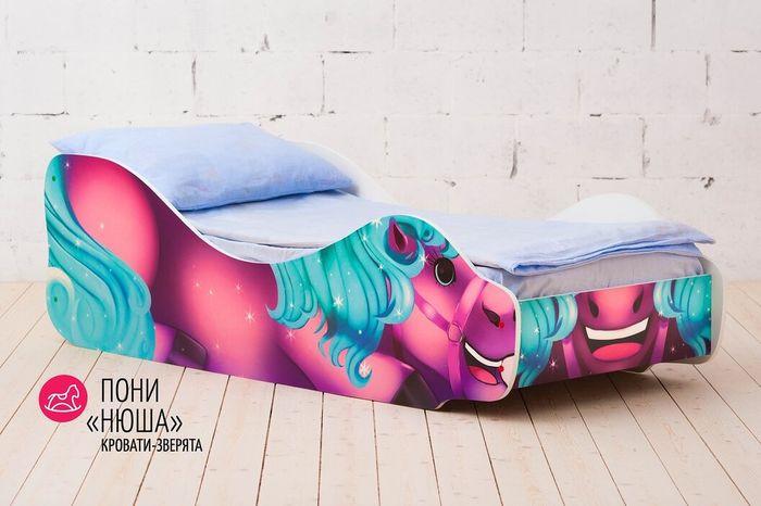 """Кровать детская Бельмарко """"Пони Нюша"""", 30384, фиолетовый, синий"""