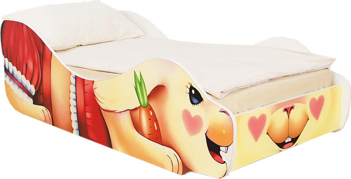 """Кровать детская Бельмарко """"Зайка Поли"""", 30380, красный, персиковый, розовый"""