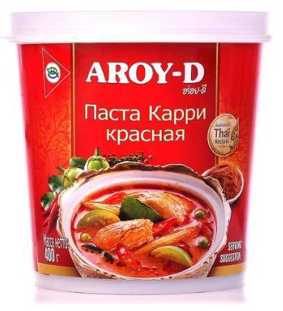 Паста Aroy-D Карри красная, 400г