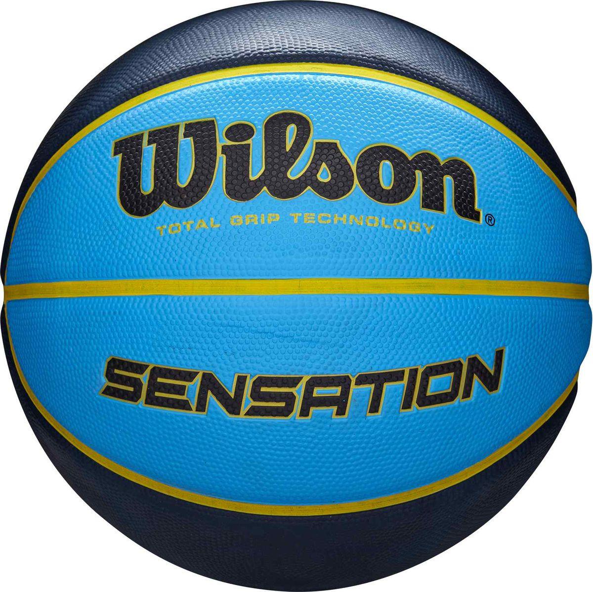 Мяч баскетбольный Wilson Sensation Sr 295 Bkt Bkbl, WTB9118XB0702, черный, синий