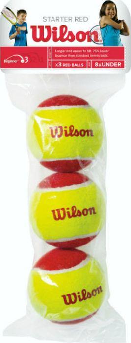 "Мячи теннисные Wilson ""Starter Red"", 3 шт"