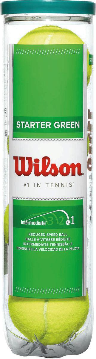 Мячи теннисные Wilson Starter Play Green, 4 шт