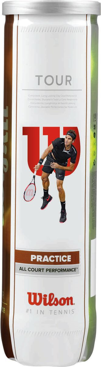 Мячи теннисные Wilson Tour Practice 4Tball мячи теннисные wilson australian open 3 ball