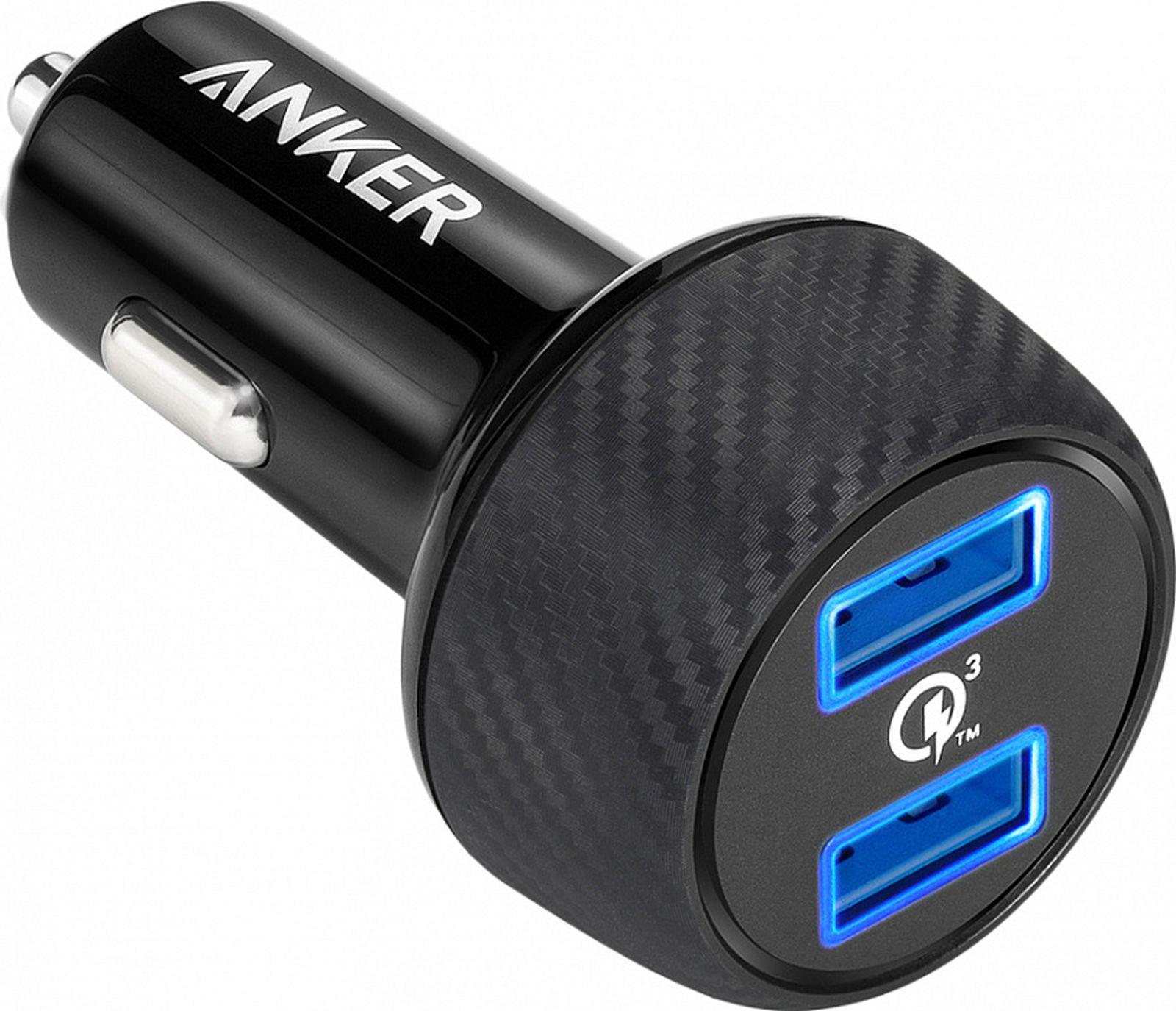 Автомобильное зарядное устройство Anker PowerDrive Speed 2QC UN with Offline Packaging V3, черный