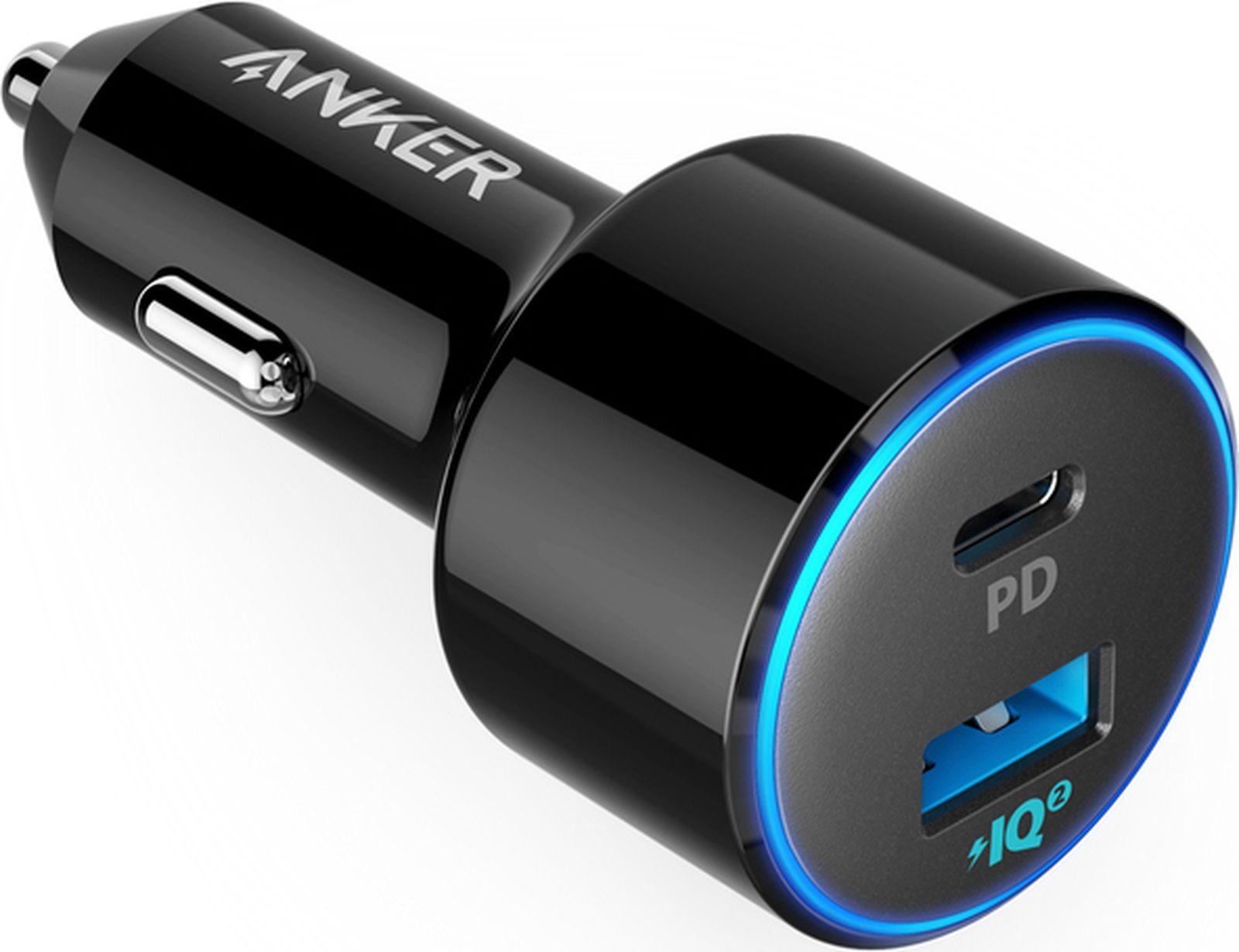 Фото - Автомобильное зарядное устройство Anker PowerDrive 2 PD with 1 PD and 1 PIQ, черный автомобильное зарядное устройство anker powerdrive 2 a2212h11 black