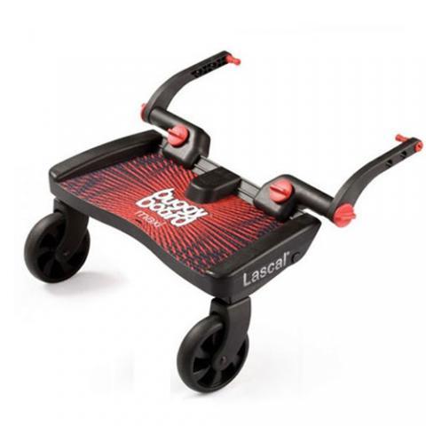 Lascal Подножка Buggy Board Maxi к коляске красная подножка lascal ласкал для второго ребенка buggy board maxi panda city green 2761