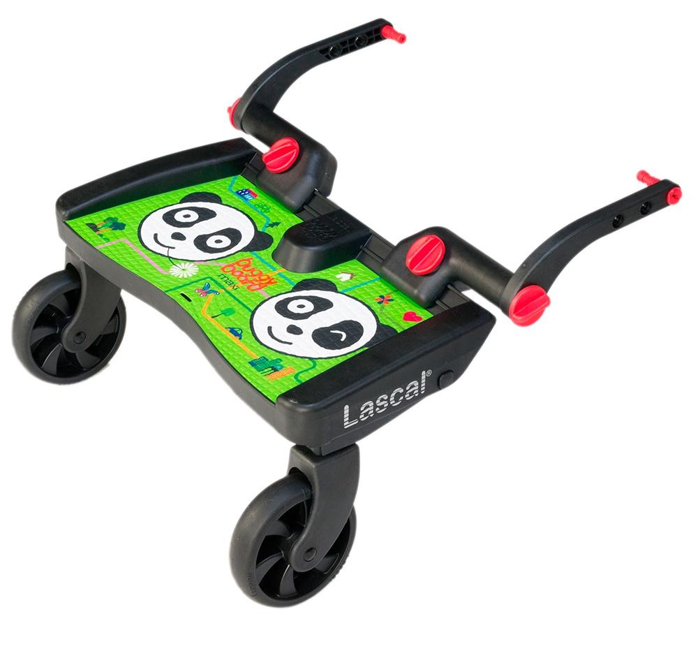 Lascal Подножка Buggy Board Maxi к коляске Panda City зеленая подножка lascal ласкал для второго ребенка buggy board maxi panda city green 2761
