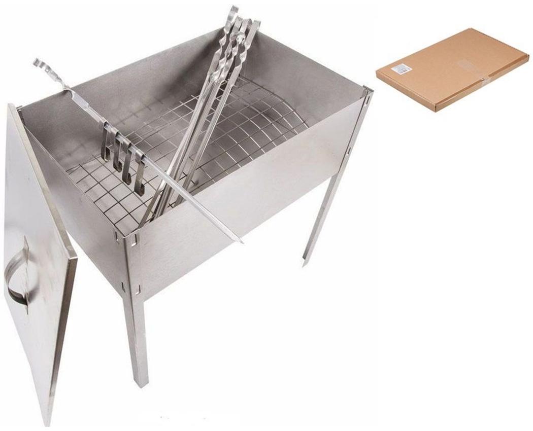 Мангал-коптильня Эконом сталь 0,5мм (коробка)