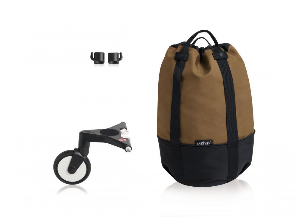 купить Babyzen Сумка для коляски YOYO+ с колесом платформой Toffee недорого