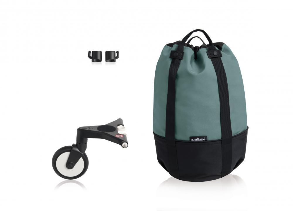 купить Babyzen Сумка для коляски YOYO+ с колесом платформой Aqua недорого