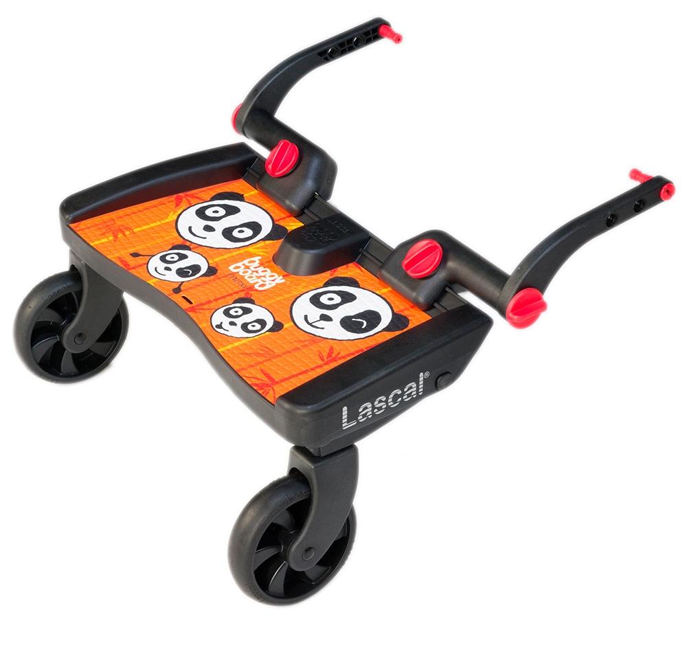 Lascal Подножка Buggy Board Maxi к коляске Panda Jungle оранжевая подножка lascal ласкал для второго ребенка buggy board maxi panda city green 2761