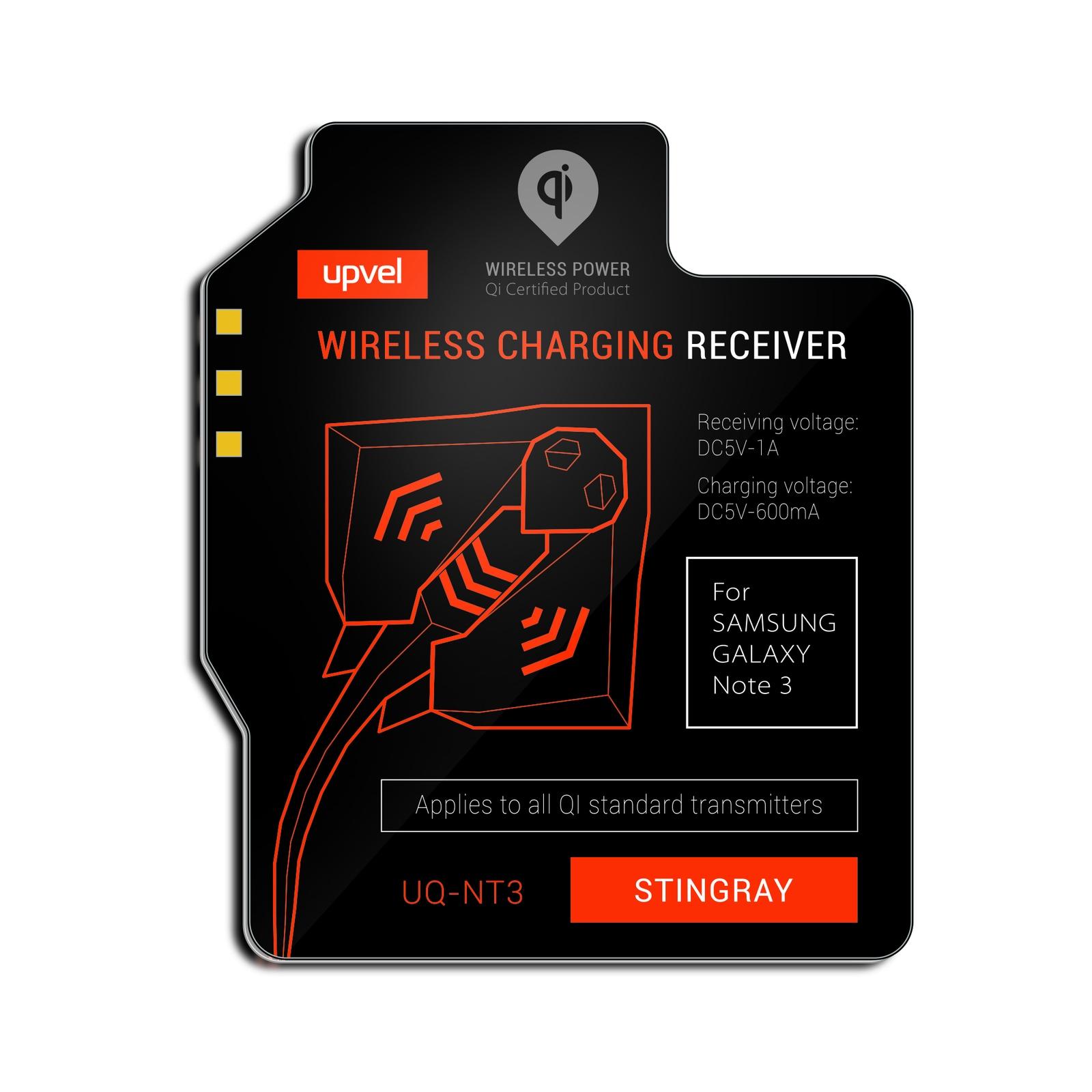 UPVEL UQ-NT3 Stingray для Samsung Galaxy Note 3, Black модуль-приемник беспроводной зарядки стандарта Qi все цены