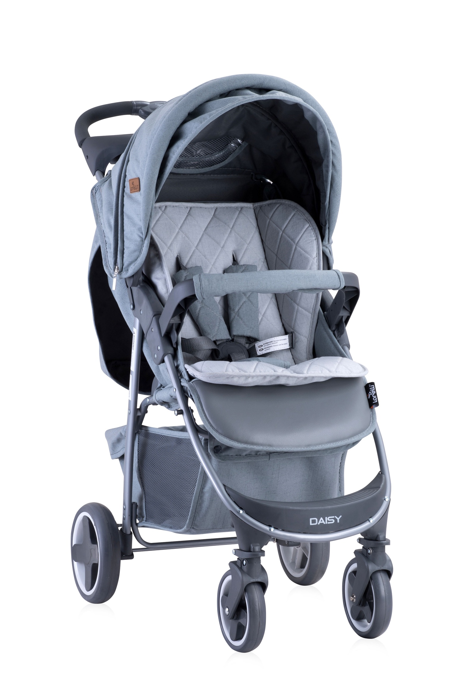 Прогулочная коляска Lorelli Daisy с накидкой на ножки цвет серый, Grey