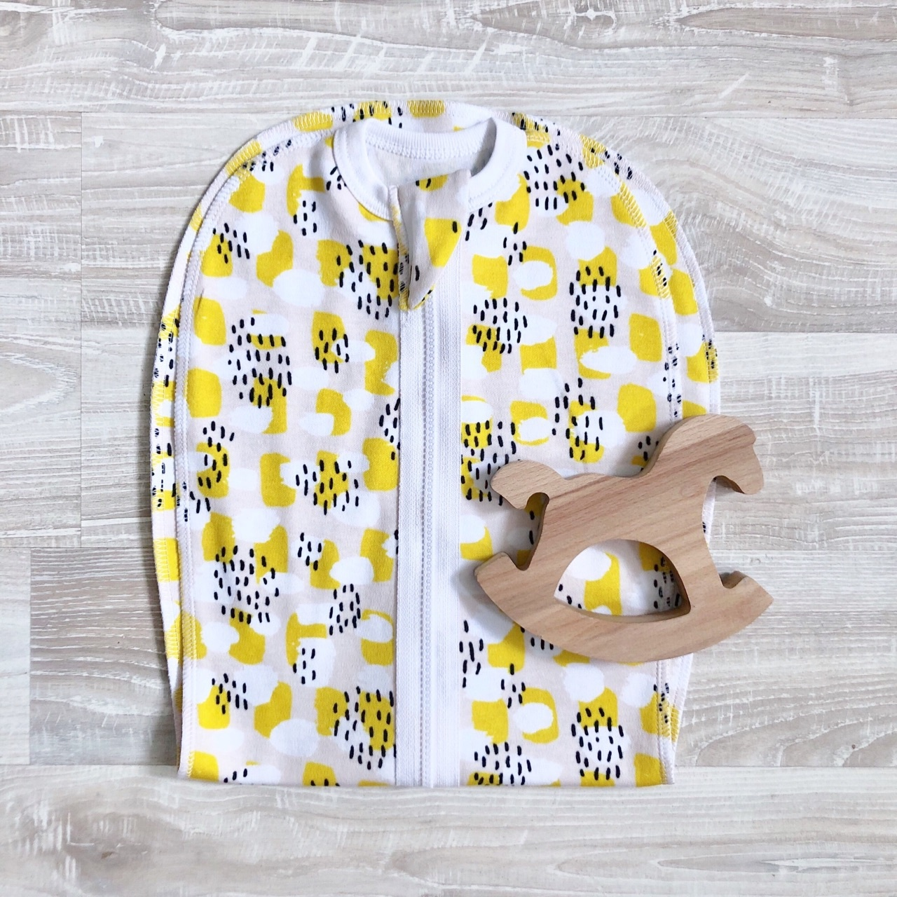 Пеленка-кокон MamaPapa Mustard Spots, 9-12 кг