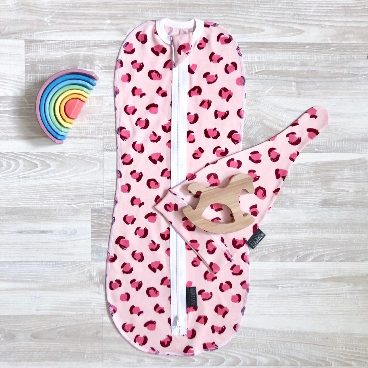 Пеленальный кокон и шапочка MamaPapa Леопард, 6-9 кг В коконе Ваш ребенок будет спокойно спать без возможности...