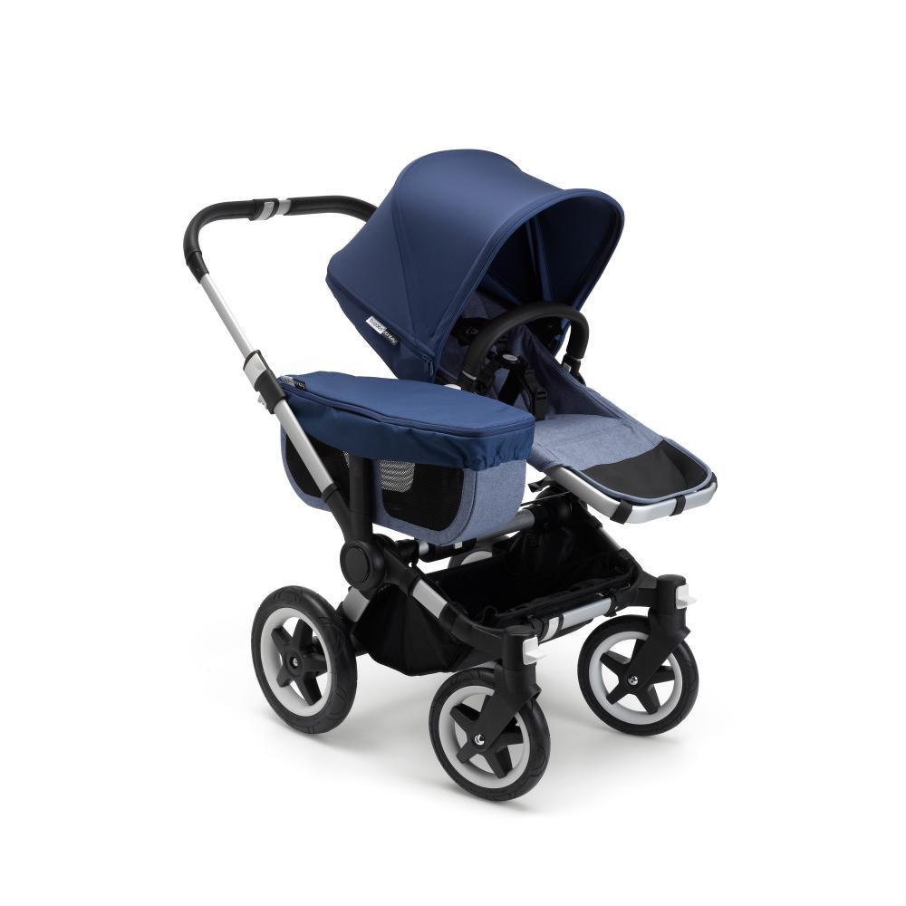 Bugaboo Donkey 2 Mono comlete ALU/BLUE MELANGE-SKY BLUE прогулочный блок для второго ребенка egg tandem seat petrol blue