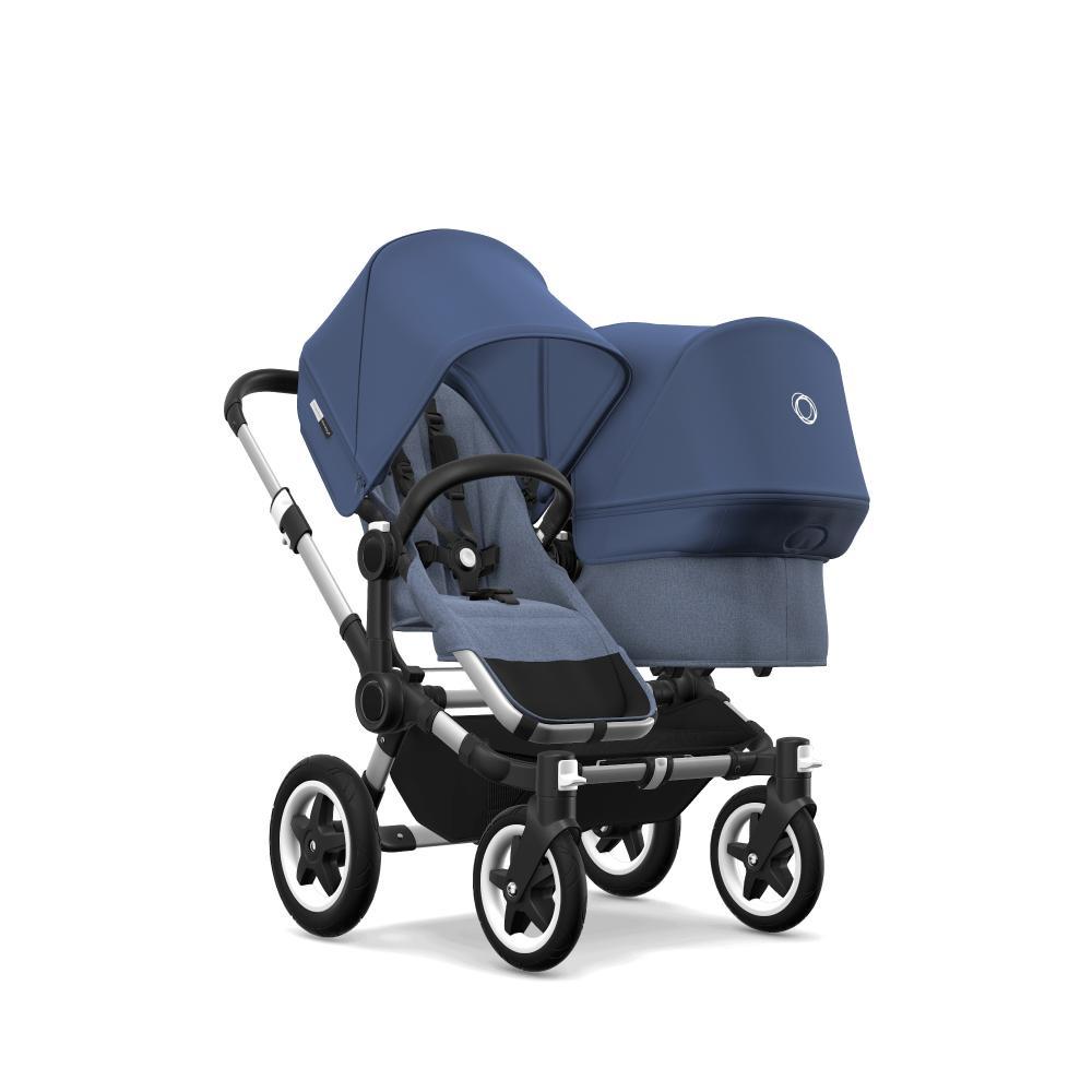 Bugaboo Donkey 2 Duo comlete ALU/BLUE MELANGE-SKY BLUE прогулочный блок для второго ребенка egg tandem seat petrol blue