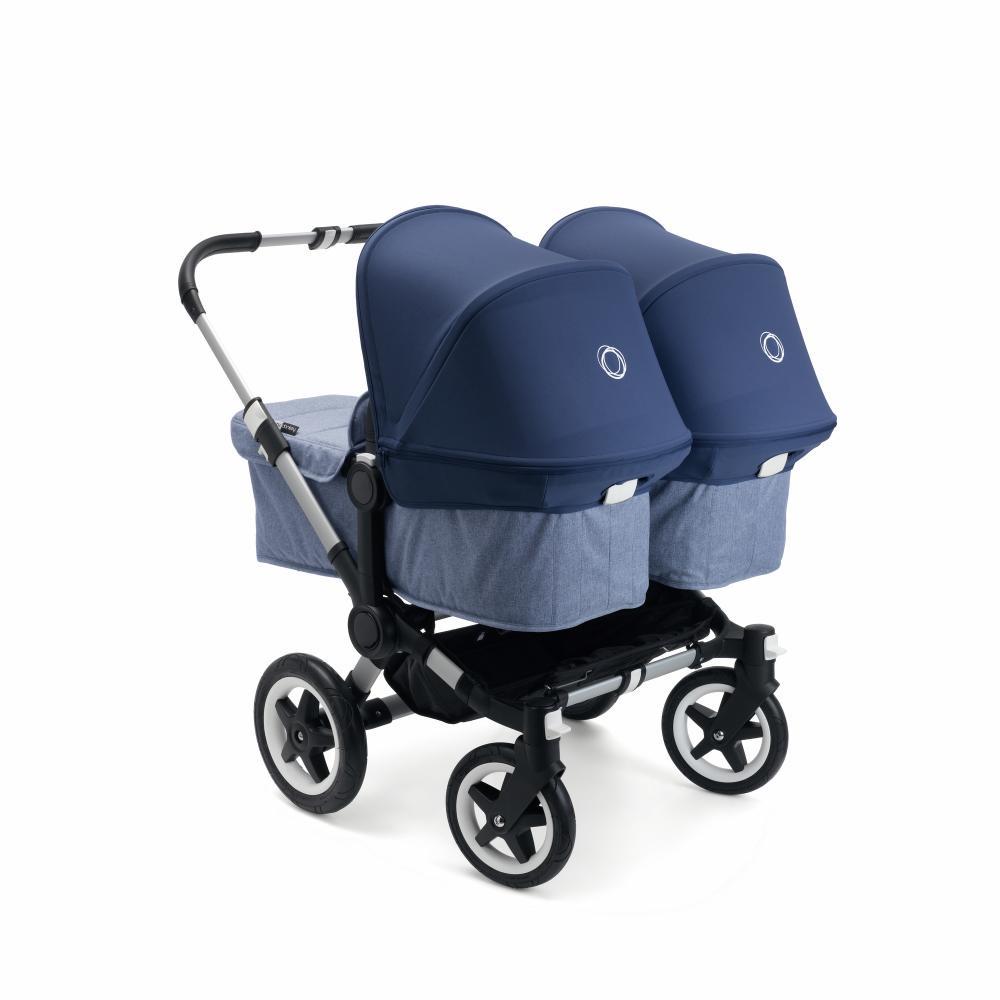 Bugaboo Donkey 2 TWIN comlete ALU/BLUE MELANGE-SKY BLUE прогулочный блок для второго ребенка egg tandem seat petrol blue